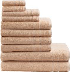 Unifarbenes Handtuch Set »Inga« von der Marke my home in wunderbarer Walkfrottee-Qualität. Die fröhlichen Farben mit einer gleichfarbig abgesetzten Bordüre verleihen Ihrem Badezimmer das gewisse Etwas. Das aus 100% Baumwolle (mit dem Kauf unterstützen Sie den nachhaltigen Baumwollanbau von Cotton made in Africa) bestehende Material bietet Ihnen mit den hautfreundlichen und pflegeleichten Eigens...