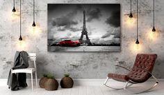 Capitale française charmante, prise en photos sur toile sera une belle décoration de votre salon #paris #photosurtoile #impressionsur toile #tour #toureiffel #eifeltower #france #tableau #tableaux #villes #city