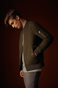 Be your own kind of Maverick in a classic bomber jacket. #newlook #menswear