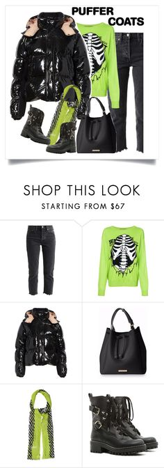 """Perfect Puffy Winter Warmth"" by style-stories ❤ liked on Polyvore featuring Levi's, Jeremy Scott, Moncler, Diane Von Furstenberg and RED Valentino"