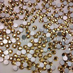 3mm Amber Flatback Rhinestones Cabochon (100pcs) / Embellishment / DIY Decoden Craft / Jewelry Phone case Charms