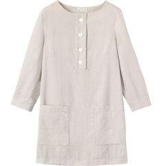 Women's Washed Linen Tunic | Toast - £75