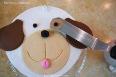 Puppy Cake~ A Blog Tutorial   MyCakeSchool Blog