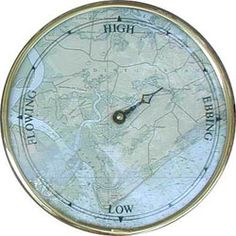 Silver Pennies: Map Tide Clock.