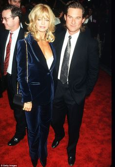 Goldie Hawn and Kurt Russell - They were still one of the most popular red carpet glamour couples when they appeared together at the premiere of Goldie's The First Wives Club in 1996