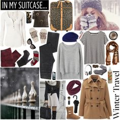 What are you packing for your winter travels? Are you bundling up for a cozy visit with the family or packing light for a tropical vacation? Perhaps you're hitting the snow for some quality time on the slopes.   Check out this collection that features some great outfits for winter travel.