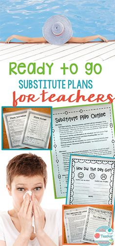 Ready to Go Substitute Plans for Elementary teachers will make taking days off a breeze! Just print and go. Easy sub plans! Perfect for a last minute sick day, stress free vacation, or just to have on hand for an emergency. Available for Kindergarten through 6th grades!
