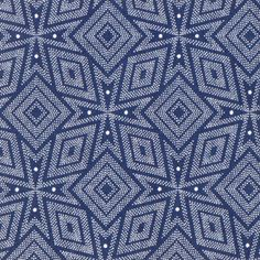 Shwe-Shwe indigo-dyed blue print cotton fabric from South Africa Textile Prints, Textile Patterns, Textile Design, Fabric Design, African Textiles, African Fabric, African Art, Motif Oriental, Art Africain