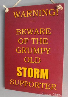 Melbourne Storm Grumpy Old Rugby League Footy Football Sign