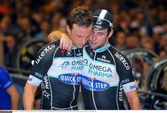 Mark Cavendish and an emotional  Iljo Keisse Photo credit © Tim de Waele/TDW Sport