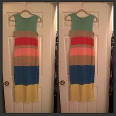 J Crew Beautiful Long FALL  Dress NWOT Colorful Dress NWOT bought at Jcrew J. Crew Dresses
