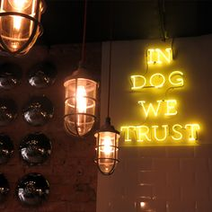 Hot D.O.C, São Paulo Sign | Typography Art | Neon Lights | Light Up Quote | Dog