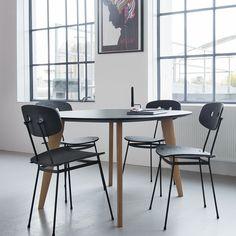 Tristan Frencken |   Bent dining chair black & Sqround black oak