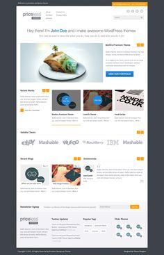 Priceless Wordpress Theme by ~sunilbjoshi on deviantART