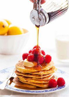 Lemon Ricotta Pancakes Recipe   SimplyRecipes.com
