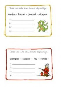 Ordre alphabétique - chd école
