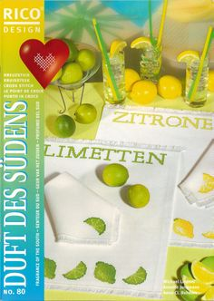 Gallery.ru / Фото #1 - 451 - Yra3raza Cross Stitch Fruit, Cross Stitch Kitchen, Cross Stitch Love, Cross Stitch Magazines, Cross Stitch Books, Thing 1, Rico Design, Placemat Sets, Le Point