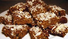 Recipe for Pumpkin Oatmeal Coconut Bars