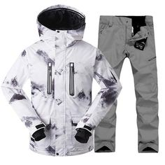 Men s Winter Ski Jacket Waterproof and Windproof Colorful Snowboard Suit 9968d66e6