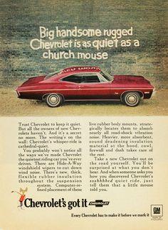 1968 Chevy Impala Ad