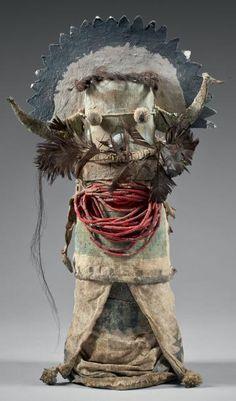 SHALAKO - Rare et très ancienne poupée Katsina Shalako (Antes 112). Circa 1880-1890 Zuñi, 31cm