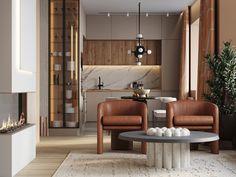 Kitchen Room Design, Modern Kitchen Design, Home Decor Kitchen, Interior Design Kitchen, Small Apartment Design, Apartment Interior Design, Home Living Room, Living Room Designs, Modern Kitchen Interiors
