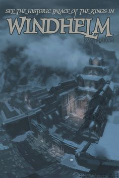 windhelm, skyrim by scifitographer Elder Scrolls Lore, Elder Scrolls Games, Elder Scrolls V Skyrim, Video Game Posters, Video Games, Skyrim Funny, Shadow Of The Colossus, Bioshock, Mass Effect