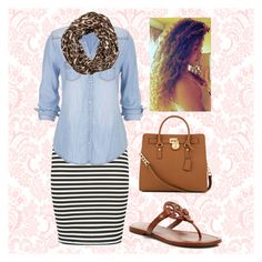 """""""Church"""" by showcow9 ❤ liked on Polyvore featuring maurices, Michael Kors, Tory Burch and Kate Spade"""