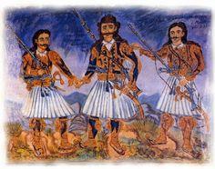 Greek Independence, Greek Traditional Dress, Local Color, Greek History, Greek Culture, Greek Art, Color Of Life, Greek Mythology, Revolution