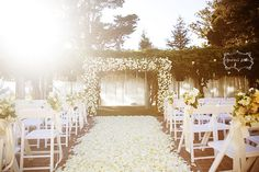 White Rose Petal Aisle, Chenin Boutwell Photography by camillestyles, via Flickr