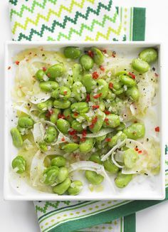 Broad bean and fennel salad