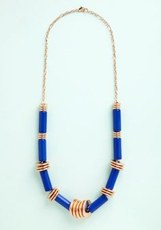 Enthrall Aboard! Necklace. Hitch a ride on the train to captivating style by accessorizing your departure-day outfit with this royal-blue necklace! #blue #modcloth