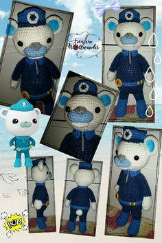 Eisbär * Oktonauten * Käpt'n Barnius * captain barnacles * gehäkelt * crochet * Amigurumi * https:// www.facebook.com / fraeuleinwollwunder