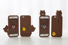 LINE FRIENDS BROWN Bear Figure Character Silicone Case For Apple iPhone 6 / 6s #LINEFRIENDS #BROWN #Romantic #Observer #LoveStory #Figure #iphoneCase