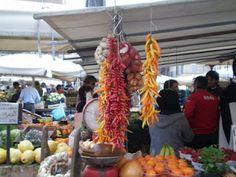Mercado de rua em Roma