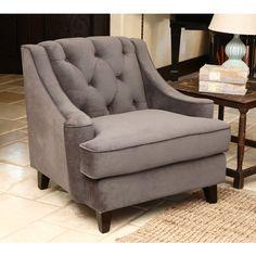 abbyson living claridge dark grey velvet fabric tufted armchair 684 liked on polyvore