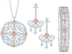 Diamond, platinum and rose gold by Tiffany