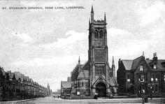 Liverpool c 1900s Postcard - St Cyprian's Church, Edge Lane