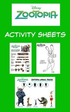 Disney Zootopia Printable Activity Sheets - Thrifty Jinxy