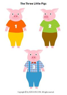 3 Little Pigs Activities, Toddler Learning Activities, Infant Activities, Teach English To Kids, Flannel Board Stories, Pig Crafts, Traditional Tales, Pig Illustration, Felt Stories
