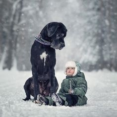 """The overall message he's trying to get across, he said, is simple: """"Love for dogs and children makes people kinder."""" 