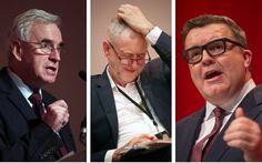Labour descends into open warfare as John McDonnell accuses Tom Watson of 'interfering' in Unite leadership contest John Mcdonnell, Jeremy Corbyn, Accusations, Warfare, Leadership, Campaign, Passion, Sayings, News