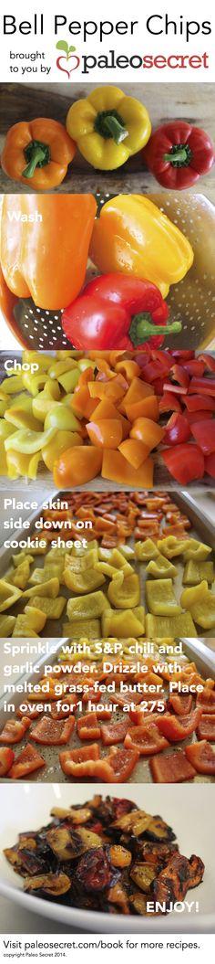 Paleo Bell Pepper Chips   paleo secret