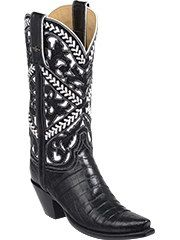 The most beautiful boot I own, hands down. Lucchese boots. Handmade in Texas. Sweetwater crocodile $2450
