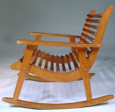 Michael Van Beuren Easy Rocking Chair, Pair for Domus | From a unique collection of antique and modern rocking chairs at https://www.1stdibs.com/furniture/seating/rocking-chairs/