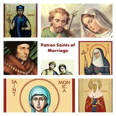 Patron Saints of Marriage...St Monica & St Joseph are two of them! Pray for us.