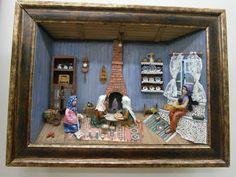 ! ♥ Ahşap Rölyef , Minyatür ve 3 Boyutlu Şekillendirme Sanatı ♥ !: Hamur Açan Kadınlar