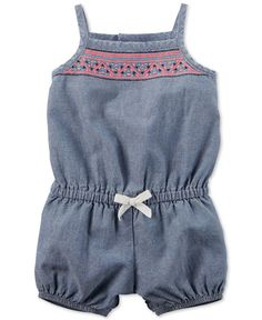 Carter's Baby Girls' Chambray Romper