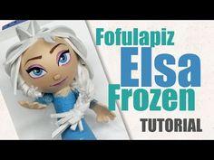Fofulapiz Elsa Una Aventura Congelada (Moldes) - Elsa Frozen Fofupen - YouTube