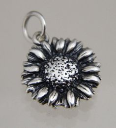 JAMES AVERY STERLING SILVER RETIRED SUNFLOWER CHARM - sunflowers are the state flower of Kansas. #SterlingSilverCharms
